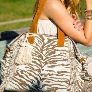 Handmade Large Tiger Motif Bag